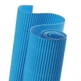 Carton Ondulado Canson 300g Rollo 0,5x0,7 M Azul Turquesa Paquete De 10