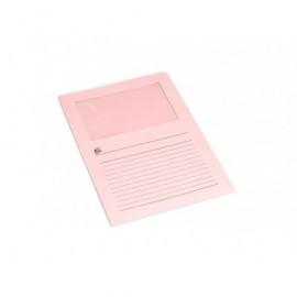5* Subcarpetas Caja 100 ud A4 Cartulina Con ventana Rosa 502624