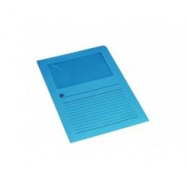 5* Subcarpetas Caja 100 ud A4 Cartulina Con ventana Azul 504765