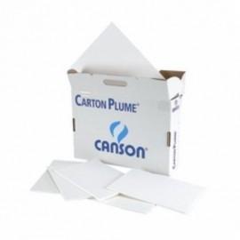 CARTON PLUMA CANSON BLANCO 3 mm 21x29 7 cm A4