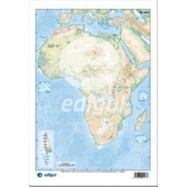 MAPA MUDO EDIGOL COLOR FISICO AFRICA