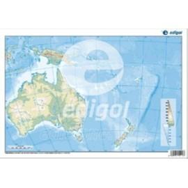 MAPA MUDO EDIGOL COLOR FISICO OCEANIA