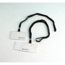FUNDA DISTINTIVO GRAFOPLAS PVC con CORDON NEGRO 60x90mm