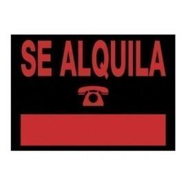 CARTEL ANUNCIO PVC 50x35 SE ALQUILA