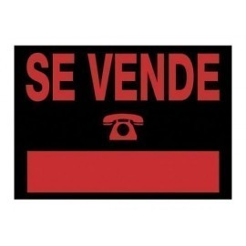 CARTEL ANUNCIO PVC 50x35 SE VENDE