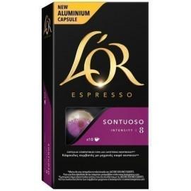 CAFE L OR SONTUOSO CAJA DE 10 UNIDADES COMPATIBLE CON NESSPRESO