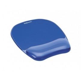 FELLOWES Reposamuñecas para el ratón de gel Crystal azul 91141