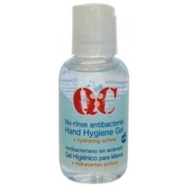 GEL DESINFECTANTE HIDRATANTE PARA MANOS QC BOTE de 50 ml
