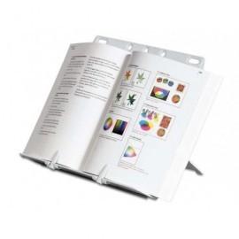 FELLOWES Atril sobremesa para libro A4 clips ajustables antideslizante plata 21140