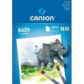 BLOCK DE PINTURA GUARRO CANSON KIDS A4 20h 200g