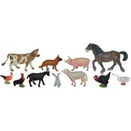 BOTE CON ASA 11 FIGURAS ANIMALES GRANJA GUIA DIDÀCTICA