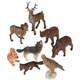 BOTE CON ASA 8 FIGURAS ANIMALES DEL BOSQUE