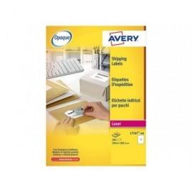 AVERY Etiquetas laser Blockout Caja 100 hojas 100 ud 199,6X289,1 L7167-100