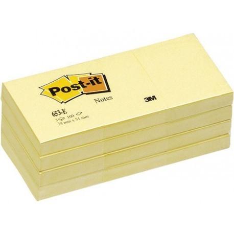 POST-IT Notas adhesivas Pack 12 blocs 100h Amarillo 38 x 51 mm FT510058488