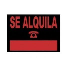 CARTEL ANUNCIO PVC 35x25 SE ALQUILA