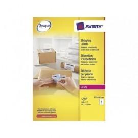 AVERY Etiquetas laser BlockOut Caja 100 hojas 400ud 99,1x139 L7169-100