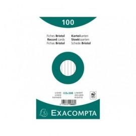 EXACOMPTA Fichas Bristol Caja 100 ud 125x200mm Horizontal 10803X