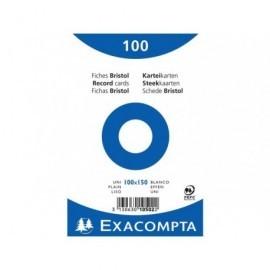 EXACOMPTA Ficheros Caja 100 ud 100X150 Liso 10502E