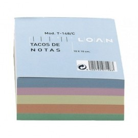 LOAN Taco notas 500h Colores surtidos 100x100mm T-148/C