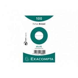 EXACOMPTA Fichas Bristol Caja 100 ud 65x95mm Horizontal 713800S