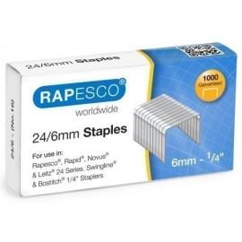 GRAPAS RAPESCO STANDARD 24 6 mm GALVANIZADAS caja de 1000