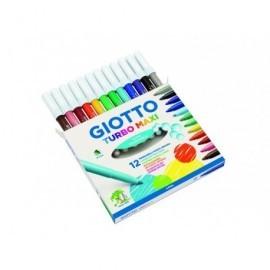 FILA Rotuladores Giotto    Estuche 12 ud Punta gruesa Colores Surtidos 454000