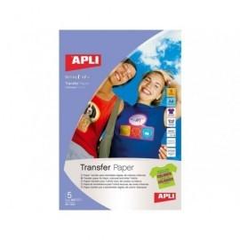 APLI Papel transferencia A4 10 Hojas 4128