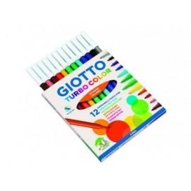 FILA Rotuladores Turbo Color Estuche 12 ud Punta media Colores Surtidos 416000
