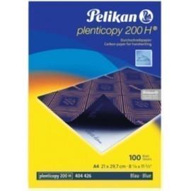 PAPEL CARBON PELIKAN PLENTICOPY 200H A4 caja de 100 AZUL