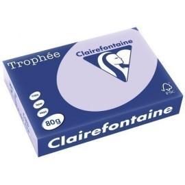 PAPEL de COLOR A4 CLAIREFONTAINE TROPHEE 80g 500h PASTEL LILA