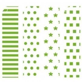 PAPEL para ORIGAMI NIEFENVER 20x20 cm VERDE 3 SOBRE de 20 hojas