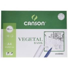 GUARRO CANSON Papel Vegetal 12 Hojas A4 90 Gr 200407621