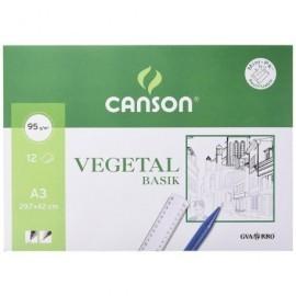 GUARRO CANSON Papel Vegetal 12 Hojas A3 90/95 Gr 200400787