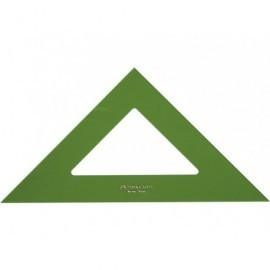 FABER CASTELL Escuadras Serie tecnica 28 cm Verde transparente No graduada Metacrilato 566-28
