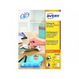 AVERY Kit etiquetado CD/DVD After Burner AB1800