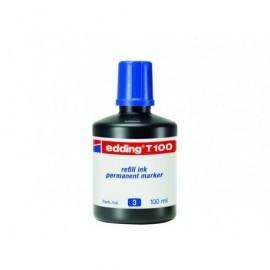 EDDING Frasco de Tinta  T-100 azul 100 ml T100-03