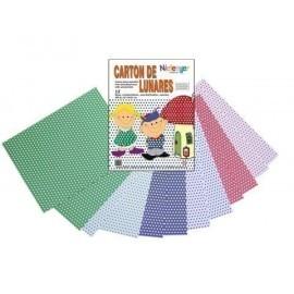 SCRAPBOOKING CARTULINA NIEFENVER IMPRESA 24x32cm 300gr LUNAR 6colores PACK 12