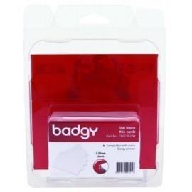 TARJETA BADGY PVC PARA IMPRESION BLANCA FINA 0 50 mm PACK DE 100