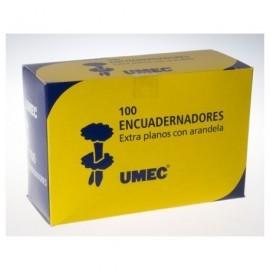 UMEC Encuadernadores con Arandela Caja 100 Ud 50mm Extraplanos y latonados U301401