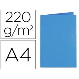 Paquete 100 Subcarpeta cartulina exacompta din a4 azul oscuro 220 gr.