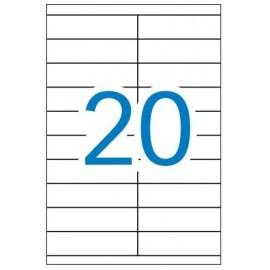 Caja de 100 hojas de etiquetas A4 ( 20 por hoja - 105x29 mm tamaño etiqueta )