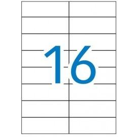 Caja de 100 hojas de etiquetas A4 ( 16 por hoja - 105x37 mm tamaño etiqueta )
