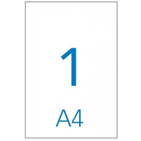 Caja de 100 hojas de etiquetas A4 ( 1 por hoja - 210x297 mm tamaño etiqueta )