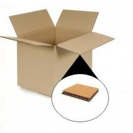 Pack de 10 Cajas de Cartón 600 x 500 x 500 mm en Canal DOBLE Alta Calidad Reforzado
