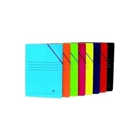 Carpeta De Gomas Y Solapas Carton Plastif. Fº (Colores Surtidos)