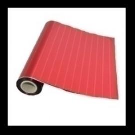 Papel De Regalo Bobina Colibri 30 Cm X 30 M Simple Estampado Rojo Con Rayas Mate