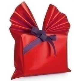 Papel De Regalo Bobina Colibri 30 Cm X 30 M Simple Rojo Mate