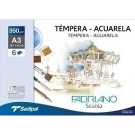 Laminas Acuarela Fabriano A3+ Bolsa De 6