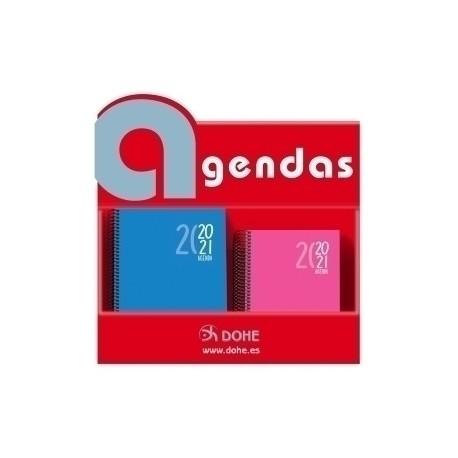 Agenda Escolar (2020) Dohe Sigma Espiral Tapa Extradura Surtido Expositor De 30 18x S/V A5 12x D/P A6