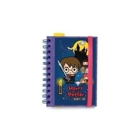 Agenda Escolar (2020) Erik Wire-O Tapa Extradura Con Goma S 11,4x16 D/P Harry Potter